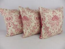 "Linwood dittisham Tela Almohada 16"" Cushion Covers se desvaneció Rose Red Floral"