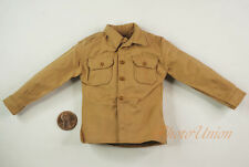1/6 Figur WW2 US Army Navy Officer Uniform Gabardine Service Shirt Blouse DA194
