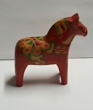 Dala Horse Hand Carved & Painted Made In Sweden