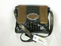Roberto Cavalli New w Tags Runway Auth Medium Leather Bag Crossbody Messenger