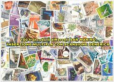 100 FRANCOBOLLI DIFFERENTI REPUBBLICA DI SAN MARINO