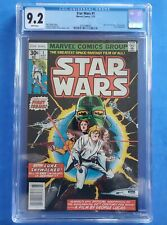 STAR WARS # 1 Marvel Comics from 1977 WHITE PAGES CGC 9.2 First Print! Newstand!