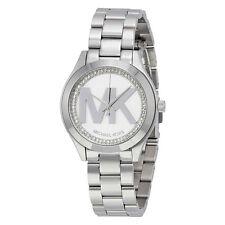Michael Kors Mini Slim Runway Silver Dial Ladies Watch MK3548