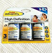 Kodak Advantix High Definition Iso 200 25 Exposure 3 Pack Expired 5/2007
