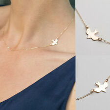 Simple Layering Dove Necklace Gold Silver Delicate Bird Necklace Fashion