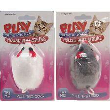 Pull String Chat Souris Jouet Jouer Pet vibrant Moving souris Fun chaton ludique