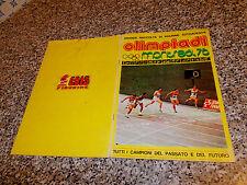 ALBUM OLIMPIADI MONTREAL 76 EDIS COMPLETO BN/OTTIMO CON CASSIUS CLAY TIPO PANINI
