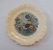 Antique Royal Doulton Cabinet Salad Plate Embossed Swirl Edge Urn Roses Flowers