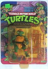 Vintage 1988 Teenage Mutant Ninja Turtles MICHAELANGELO Unpunched 10 Figure Back