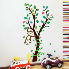 Cute Monkey Big Tree Vines Wall Decals Vinyl Decor Baby Bedroom Home Stickers