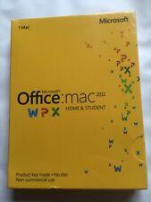 MICROSOFT OFFICE 2011 HOME & STUDENT FOR MAC GZA-00269 GENUINE UK MAC NEW SEALED