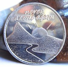 Alcoholics Anonymous Aa Never Alone Again Aluminum Medallion Coin Chip Token