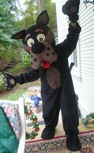 Handmade big black dog Mascot Costume High Quality Adult unisex med GREAT FUN