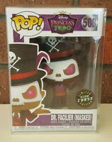 Funko POP! Disney #508 Dr. Facilier GLOW CHASE - GITD RARE + POP Protector