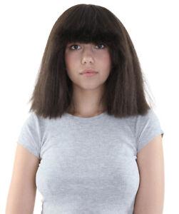 Australian Singer Wigs | Dark Brpwn Large Celebrity Wig HW-1152