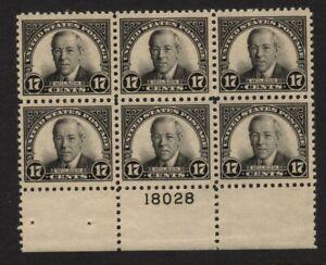 #623 mint original gum Plate # block of 6