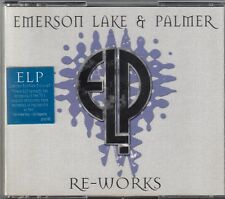 EMERSON LAKE & PALMER - Re-works(CD, Oct-2002, 3 Discs) HYPE STICKER