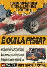 X7420 LEGO TECHNIC - E' qui la pista? - Pubblicità del 1990 - Vintage advert