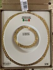 "18kt Gold Plated 7.5 Bracelet And 18"" Necklace By Brilliance"
