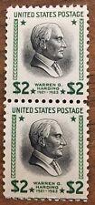 2 block of $2 Warren G. Harding postage stamps.  MNH. Scott #833