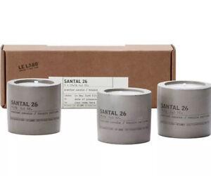 Le Labo Santal 26 Set of 3 Mini Concrete Candle