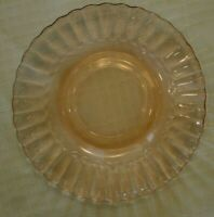 "Fortecrisa Mexico Pink Swirl Depression Glass 5 1/4"" Saucer SET OF 8 + Bonus"