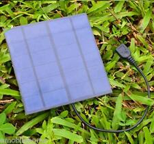 Outdoor 3W Silicon Portable Solar Panel Battery Charger USB Power Bank Pack 5V