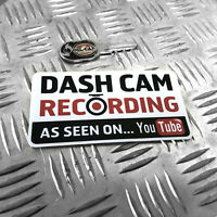 1X DASH CAM RECORDING AS SEEN ON YOUTUBE - FUNNY CAR STICKER DECAL BUMPER