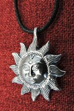 Sun Pendant Sol Mystic Spiritual Pagan Wiccan Harmony Balance Pewter