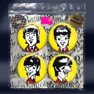 THE BEATLES - John Lennon Paul McCartney Ringo Starr George Harrison Badges x4
