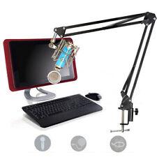 1xMic Arm Stand Microphone Suspension Boom Scissor Holder Studio Broadcast Use