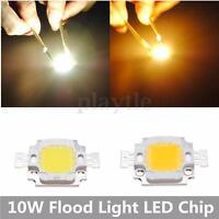 1-50pcs 10W High Power LED SMD Light Chips Bulbs Lamp Cool/Warm White DC 9-12V