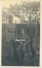 Portrait-Foto drei deutsche Landser 2.WK (i44)