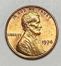 1974 Lincoln Memorial 1 Cent Circulated Double Die Obverse Error Coin (3834)