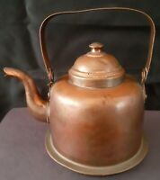 Vintage Hand Crafted Copper Tea Pot Kettle