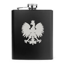 7oz Stainless Steel Liquor Hip Flask Poland Polish Eagle
