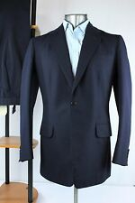 Anderson & Sheppard Bespoke ~40L Savile Row Navy Blue 1 Button Vented 2 Pc Suit