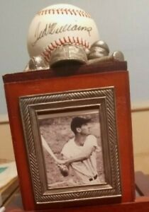 TED WILLIAMS AUTOGRAPHED BALL C.O.A. &  Historic Lumber 55/75