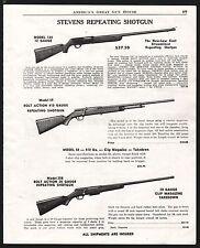 1952 STEVENS Model 124 12 gauge, 59 .410 and 25820 gauge Repeating Shotgun AD