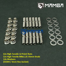 CNC Turbo To Exhaust Manifold & Downpipe Studs Kit Mini Cooper R55 R57 R58 R59