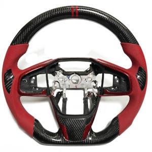 Real carbon fiber Sport Universal Car Steering Wheel For Honda Civic Type-R FK8