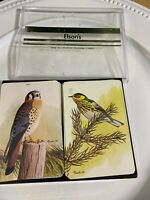 Elson's plastic playing cards Vintage with case Bird & Owl