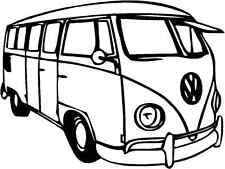 VW Splitty Camper Van Gloss Vinyl Car Sticker Auto Decal Scooter Graphic Art