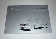 1998 Mercedes CL Owners Manual CL500 600 98 500 CL600