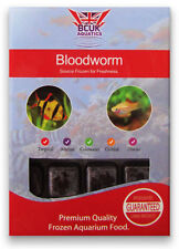 BCUK Frozen Fish Food-11 X 100g BLISTER Packs Bloodworm