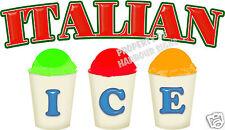 Italian Ice Decal 14 Concession Trailer Cart Food Truck Cart Vinyl Menu Sign