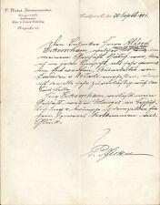 FRANKFURT/ODER, Brief 1901, Zimmermeister & Baugeschäft P. Nickel