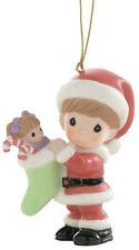 "Nib- Precious Moments ""Here Comes Santa Claus"" #910025 Xmas ornament *Free ship"