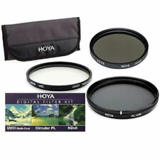 Hoya 72mm 3x Filter Kit HMC Digital UV(C) + Circular Polarising CPL + ND8 Pouch