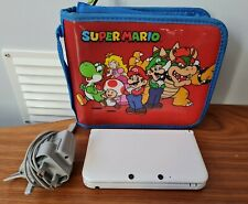 Nintendo White 3DS XL - CASE & CHARGER INCLUDED